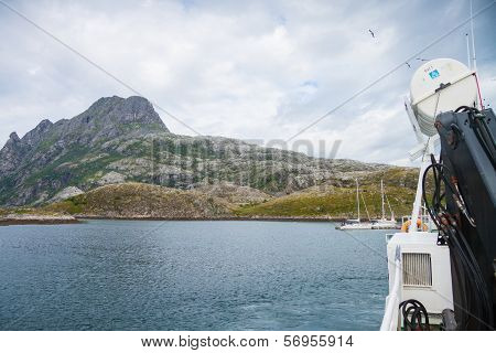 View From A Boat In Northern Norway