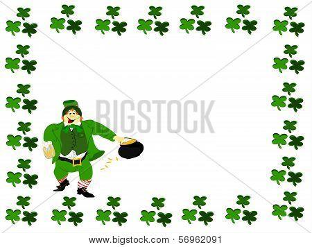 leprechaun beer clover square