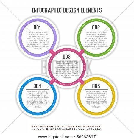 Five Circle Infographics