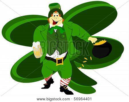 leprechaun beer large clover