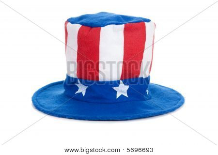 Uncle Sam Hat On White