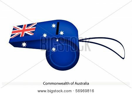 A Beautiful Blue Whistle Of Australia Flag