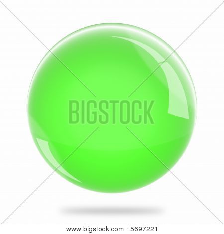 Blank Light Green Sphere Float