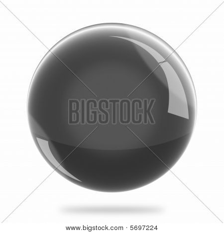 Blank  Black Sphere Float