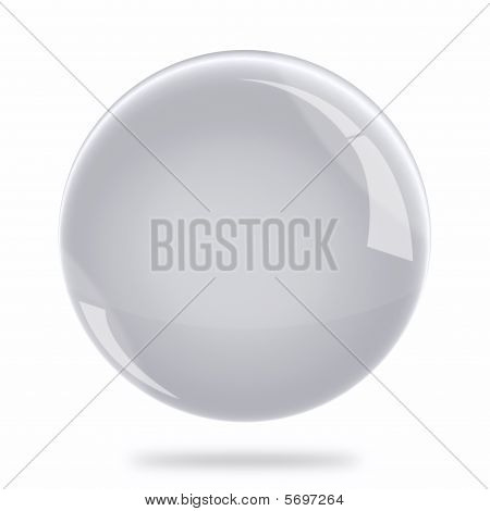 Blank Silver Sphere Float