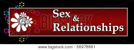 Sex and Relationship Red Black Horizontal