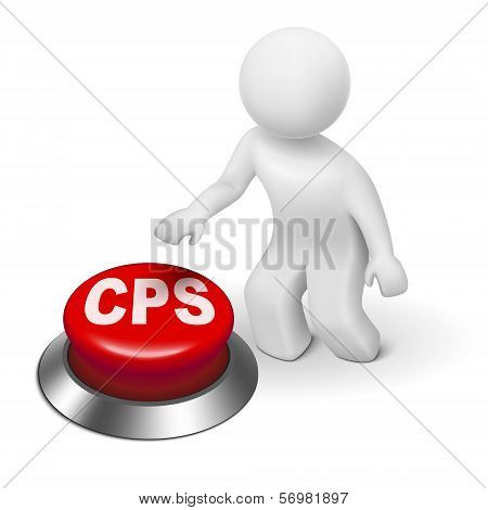 3D Man With Cps Cost Per Sale Button