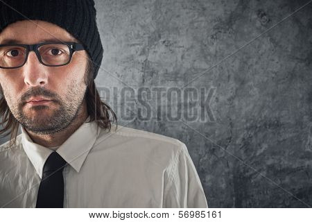 Businessman Portrait With Copy Space