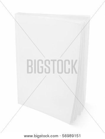 Blank White Book On White