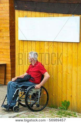 Waiting In A Wheelchair With Copyspace