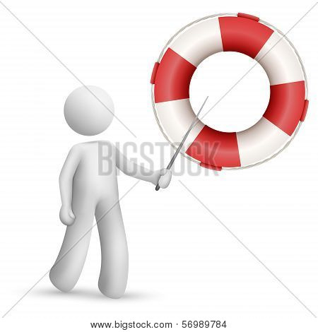 3D Person Pointing At A Buoy