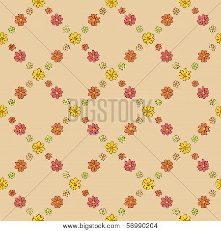 Warm Flower Net Pattern