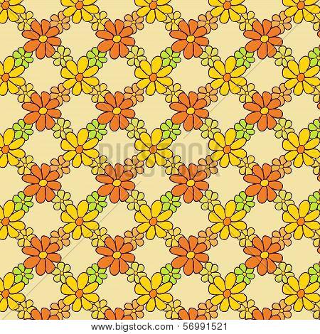 Flower Net Pattern on Light Background