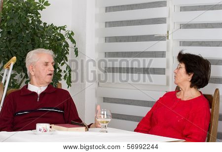 Senior Couple Talking
