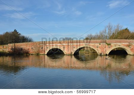 red brick bridge over suffolk stour