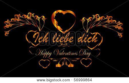 ich liebe dich , Valentine frame
