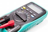 picture of  multimeter  - digital multimeter for determining electrical current and test circuit - JPG