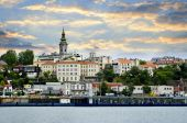 picture of yugoslavia  - View of Belgrade city from Danube river - JPG