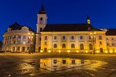 pic of sibiu  - Main square at dawn - JPG
