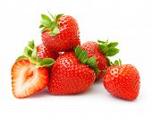 pic of strawberry  - Strawberry isolated on white background - JPG