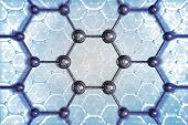 stock photo of graphene  - Molecular Structure Chemical Concept Illustration - JPG