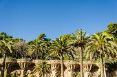 stock photo of gaudi barcelona  - park guell tourist attractions in Barcelona  - JPG