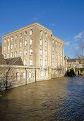 stock photo of avon  - Flooded River Avon - JPG