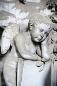 image of genova  - One of the many sculptures located in the cemetery of Staglieno Genova - JPG
