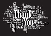 stock photo of thankful  - Thank You Word Cloud - JPG