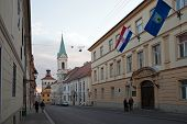 ZAGREB, CROATIA - JANUARY 12, 2014: Cirilometodska street that leads to famous St Mark�¢�?�?s Ch