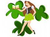 picture of fourleaf  - eps editable vector format - JPG