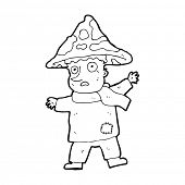pic of magical-mushroom  - cartoon magical mushroom man - JPG