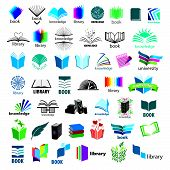 stock photo of enlightenment  - biggest collection of vector icons books - JPG