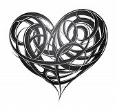 picture of cult  - St Valentines related design including decorative heart tattoo - JPG