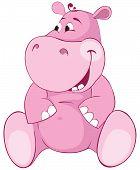 picture of behemoth  - Pink hippopotamus  - JPG