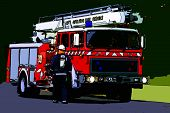 Drawn Fire Truck... poster