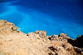 picture of unbelievable  - unbelievable color of Lybian sea with blue azure water - JPG