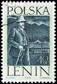 Lenin In Poland Stamp