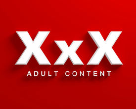 foto of pornography  - xxx adult content white text on red background - JPG