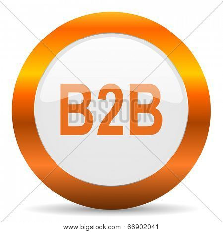 b2b computer icon on white background