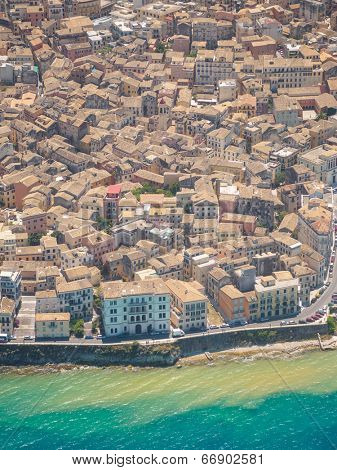 Aerial view of Corfu town in Kerkyra islandGreece