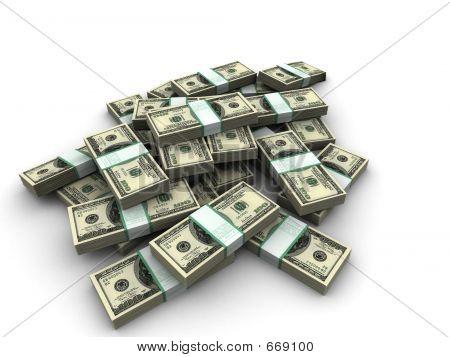 Geld-Bündel