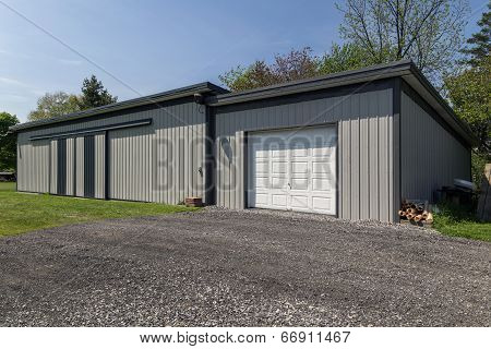 Long Metal Barn