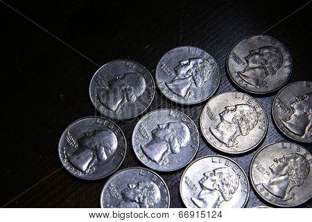 Ten American Quarters