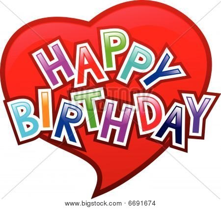 Happy Birthday, Heart Love Happy birthday Graffity on