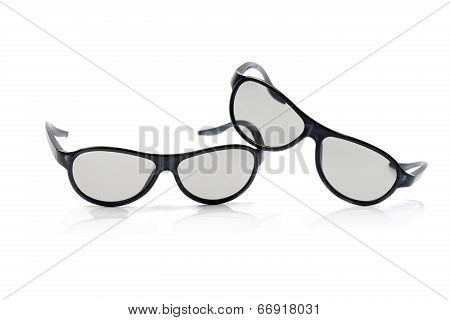 Cinema Glasses Isolated On White