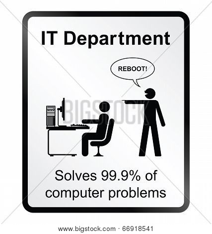 IT Department Information Sign