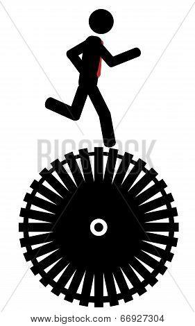 Run on wheel