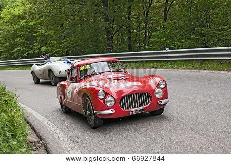 Fiat 8V (1953) In Rally Mille Miglia 2013