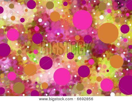Todos los puntos en rosas y morados
